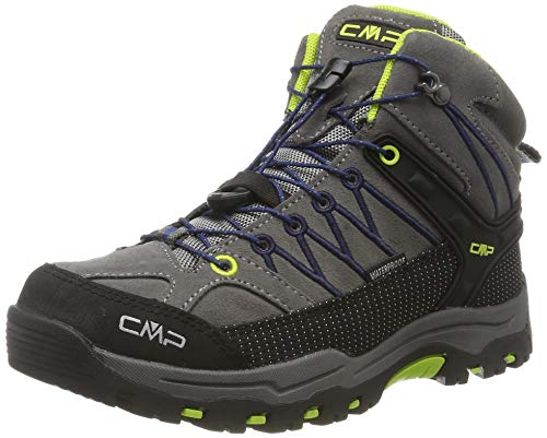 CMP Unisex-Kinder Kids Rigel Mid Shoe Wp Trekking- & Wanderstiefel, Schwarz (Graffite-Marine 35ud), 33 EU
