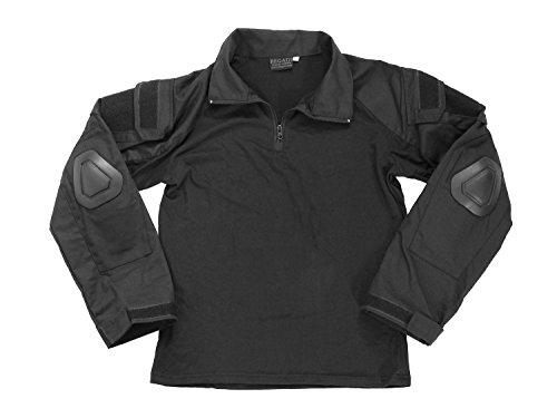 BEGADI Basics Combat Shirt, mit elastischem Torso, 2 Armtaschen & Protektoren - schwarz XXL