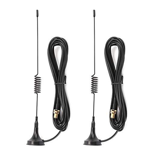 T osuny pcs Antena magnética para Coche móvil, Amplificador de señal SMA- Antenas Hembra, para Baofeng UV5R, para WOXUN, para Ken-Wood, para PUXING, para Linton, Walkietalkie