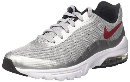 Nike Herren Air Max Invigor Sneaker, Grau (Wolf Grey/Varsity Red-Black-White), 45 EU