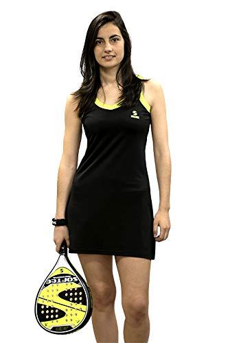 Softee T-Shirt pour Femme XS Noir/Jaune