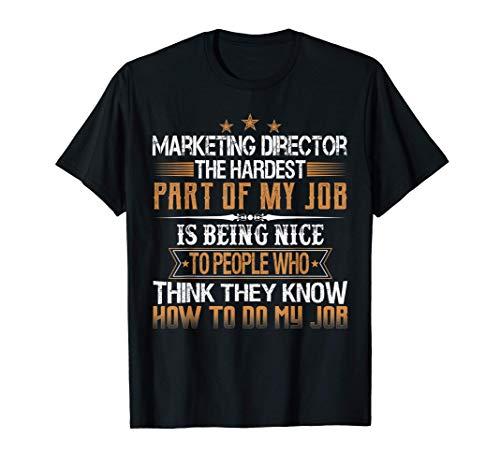 Marketing Director Trabajo Frase Graciosa En Inglés Camiseta