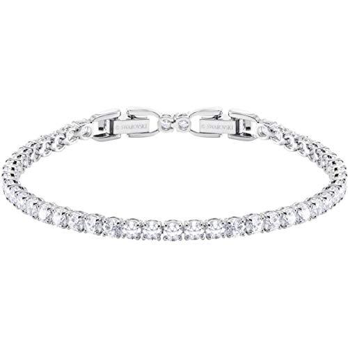 SWAROVSKI Crystal Deluxe White Rhodium-Plated Tennis Bracelet