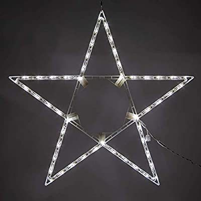 Kringle Traditions Folding LED Light Star Outdoor Decoration Star for Window, Star Outdoor Christmas Light, Outdoor LED Star Decoration