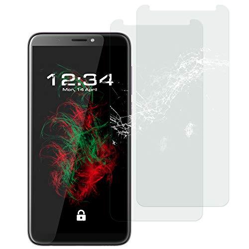 Baluum 2X Panzerglas für HTC Desire 12 Plus Klare Displayschutzfolie Panzerglasfolie 9H Echt Glas-Folie Clear Tempered Glass Screen Protector Glas Durchsichtige Schutzfolie (Glasfolie-Klar 2X)