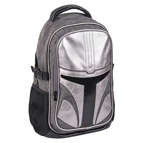 Cerdá Mandalorian Backpack Type Casual - Official Star Wars License, Multicolour, Large
