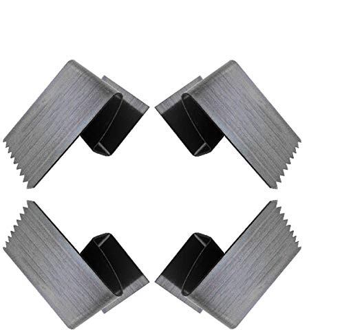 60 HurriClip Hurricane Safety Carbon Steel Clip for ½ inch Plywood   Used to Secure Plywood Hurricane Shutters   Includes 60 Total Hurricane Windows Clips