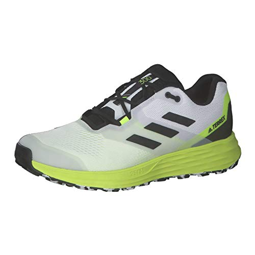 adidas Terrex Two Flow, Zapatillas de Trail Running Hombre, FTWBLA/NEGBÁS/Amasol, 43 1/3 EU