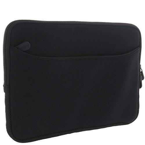 XiRRiX Premium Laptoptasche Neopren für 11 11,6 12 Zoll (28 30 32 cm) Laptop 2in1 Notebook - Notebookhülle mit Zubehörfach - Tasche schwarz