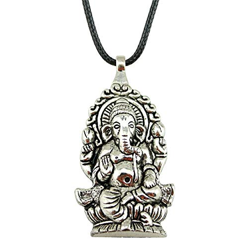 WYSIWYG 3 Piezas Cadena De Cuero Collares Colgantes Gargantilla Collar Collar Hecho A Mano De Los Hombres Ganesha Buda Elefante Colgantes 62x32mm