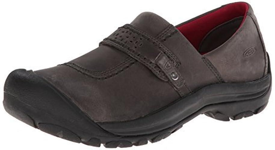 糸バウンド時計回りKEEN Women's Kaci Full-Grain Slip-on Hiking Shoe Magnet 12 M US [並行輸入品]