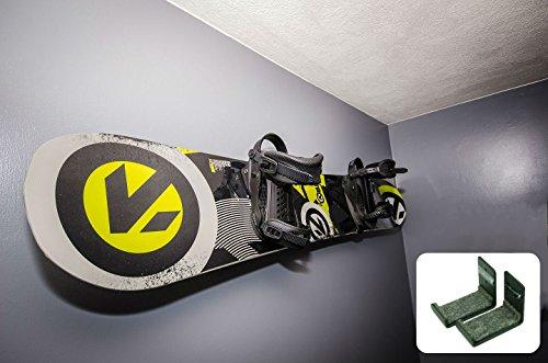 StoreYourBoard Snowboardständer, Naked Wall Rack, (Mittel - Schwarz)