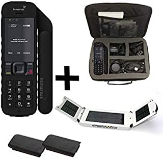 SatPhoneStore Inmarsat IsatPhone 2.1 Satellite Phone Traveler's Package with Travel Bag, Solar Charger, Extra Battery and Blank Prepaid SIM Card Ready for Easy Online Activation