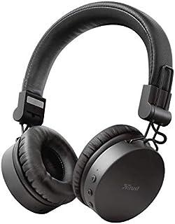 Trust Mobile Tones Kablosuz Kulak Üstü Bluetooth Kulaklık (25 Saat Çalma Süresi, 10 m Menzil, Kablosuz, 40 mm Sürücü, Katl...