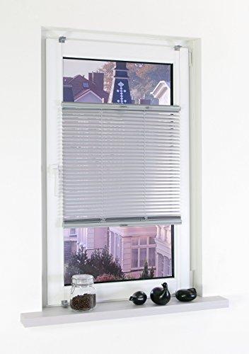 Liedeco Klemmfix-Jalousie, Aluminiumjalousie   Montage ohne Bohren   B 50 cm x H 130 cm   Silber