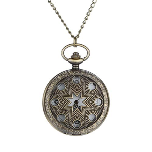 Lowest Price! Muranba 2019 ! Vintage Flower Pocket Watch Quartz Necklace Chain Men Women for Girls G...