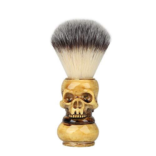 YEMXAM Pennello da barba,Pennello da barba con teschio,Criniera adatta alla pelle,Rasoi di sicurezza per la festa del papà per la cura del viso,Set regalo da barba per uomo,Pennello da barba per padre
