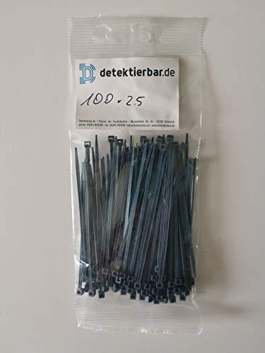 Detektierbare Kabelbinder, detektierbar, blau, versch. Größen - detectable cable ties, blue, VE 100 Stück (100 x 2,5)