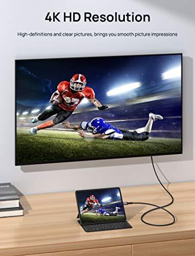 JSAUX USB C auf HDMI Kabel 2M,USB Typ C zu HDMI 4K UHD Kabel(Thunderbolt 3 kompatibel) für MacBook Pro 2018/2017, MacBook Air/iPad Pro 2018, Samsung Galaxy S10 / S9, Surface Book 2 Usw.
