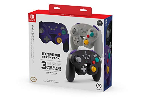 PowerA Extreme Party Pack Wireless Controller for Nintendo Switch - GameCube Style: 3 Pack - Nintendo Switch (Only at Amazon)