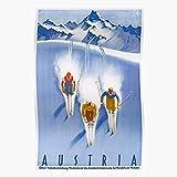 Generic Travel Ski Austrian Retro Vintage Austria