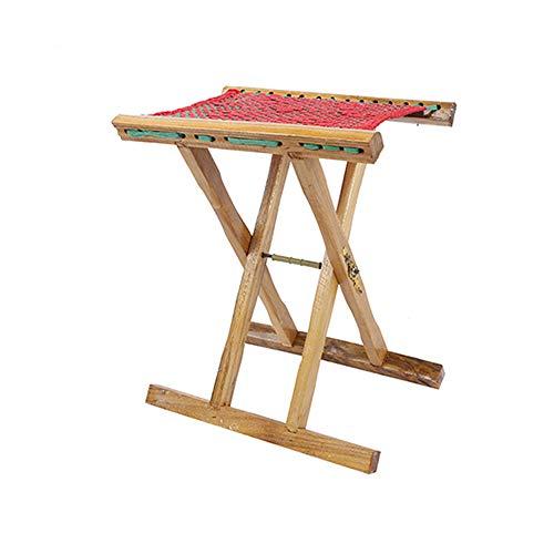 YQQ Tabouret en Bois Massif Portable Mazza Tabouret Pliant Extérieur Petit Banc Chaise D'esquisse Étal De Rue Tabouret De Pêche (Taille : 35 * 28 * 43cm)