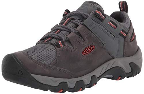 KEEN mens Steens Vent Hiking Shoe, Steel Grey/Picante, 10 US