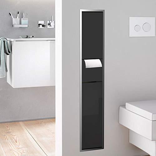 Emco asis WC-Modul (150) WC-PH,BÜGA up, 964mm, ohne Einbaurahmen, Chrom/Schwarz