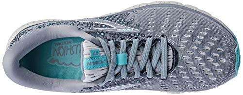 Brooks Womens Glycerin 17 Running Shoe - Grey/Aqua/Ebony - B - 9.5 3