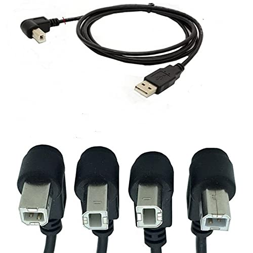 1.5M USB to Printer Adapter Cables 90 Degree USB 2.0 A Male to B Down Angle...