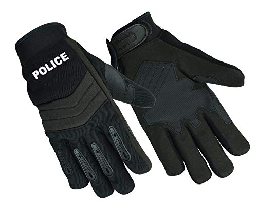 NEW Hugger Air Cooled Breathable No Sweat Knit Police, Sheriff Safety Glove with Kevlar Lining (Medium, Black.PL)