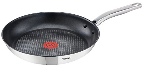 Tefal A7030415-Frying pan A7030415 Intuition, roestvrij staal, zilver, 24 cm
