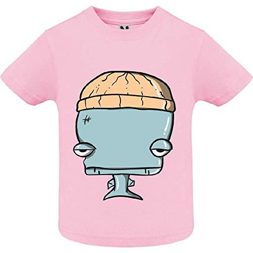 LookMyKase T-Shirt - Whale - Bébé Fille - Rose - 6mois