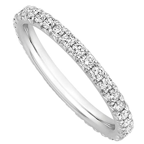 MILLE AMORI ∞ Anello di Fidanzamento Eternity Oro et Diamanti Lab-Grown ∞ Oro Bianco o Giallo 9Kt 375 ∞ Diamanti 0.34 Ct ∞ Diamanti Eco-Responsabili