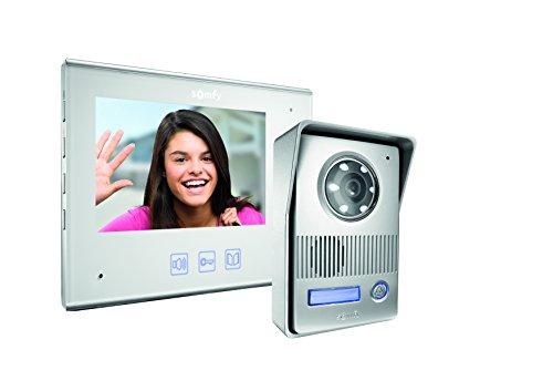 Somfy 2401296 Videotürsprechanlage Farbe, V400 3660849503932, weiß, 7 pouces
