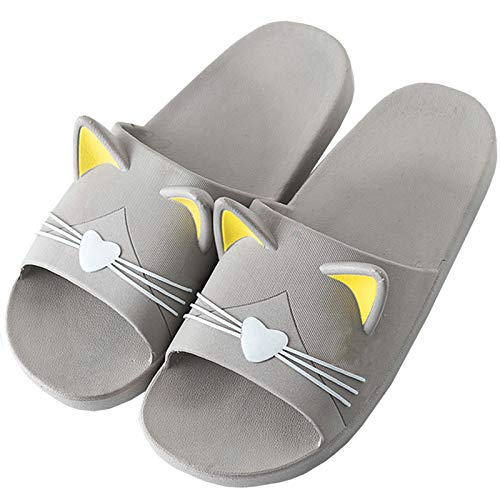 Chanclas Casual Hombre Zapatillas Ducha Mujer Sandalias Verano Piscina Zapatos Antideslizante Bañarse Calzado Gris 43/44