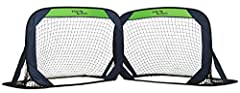 Collapsible and lightweight set of Soccer goals perfect for spontaneous Soccer games anywhere The perfect portable net set for training, practicing drills or having a fun-filled game of Soccer with friends in the backyard, park or even the beach Incl...