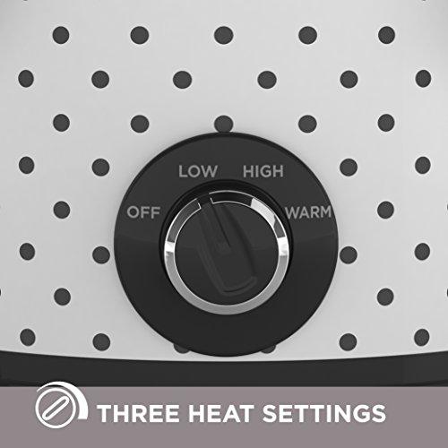 BLACK+DECKER Slow Cooker, 4 Quart (4+ Servings), Dishwasher Safe, Black/White Dot Pattern, SC1004D