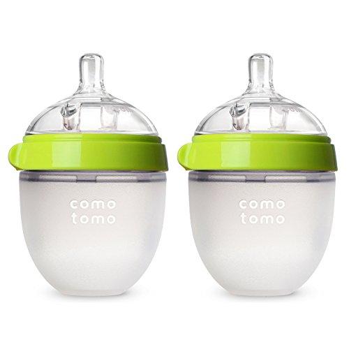 Two 5oz Comotomo Baby Bottles, Green $11.99
