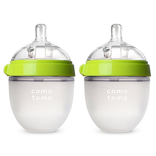 Image of Comotomo Baby Bottle, Green, 5 Ounce (2 Count)