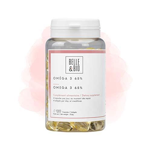 Belle&Bio Oméga 3-65% - 500 mg/jour - Circulation - Fabriqué en France