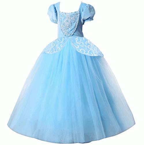 Lujoso disfraz de Cenicienta para niña, color azul, azul