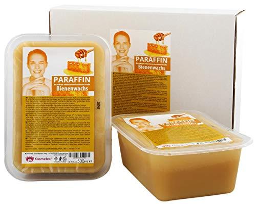 Kosmetex Paraffin-wachs Bienenwachs, Paraffinbad Wachs mit niedrigeren Schmelzpunkt, 2x 500ml