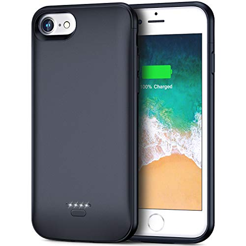 Smiphee iPhone 6 6s Battery Case, 4000mAh Portable Protective Charging Case for iPhone 6 6s(4.7 inch) Extended Battery Charger Case (Midnight Black)