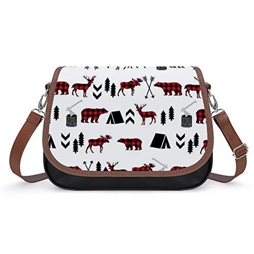 Damen Crossbody Tasche, Geldbörse, Kunstleder Buffalo Buffalo Southwest Modell, staubdichte Hosentasche mit Klettverschluss und abnehmbaren Riemen für Trekkingräder.