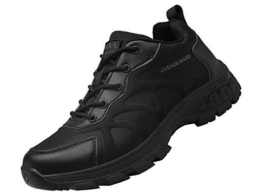 IYVW K12 Botas Altas Selva Desierto Exteriores, Botas Tácticas Combate Militar Botas Patrulla Policial Zapatos Trabajo Antideslizantes Senderismo Entrenamiento Botas Cortas Seguridad Negro 43 EU