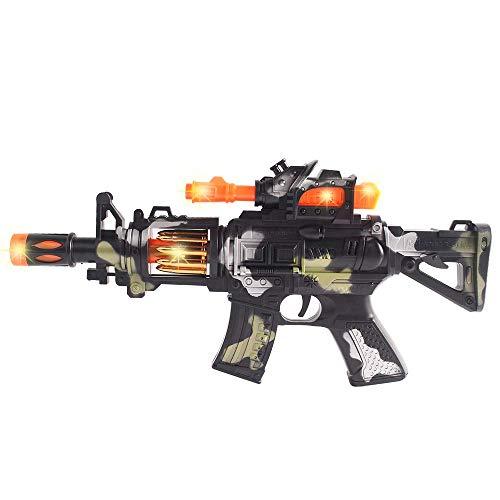 Coolgun Electric Toy Machine Gun Flash Vibration Sound and Light Music Gun M4 Submachine Gun–Perfect Pretend Play Toy for Boys & Girls Cosplay
