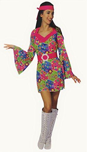 Kaufland Warenhandel GmbH & Co. KG Hippie-Kleid für Damen, Kostüm für Erwachsene, Größe S