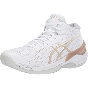 ASICS Women's Sky Elite FF MT Court Shoes, 14, White/Frosted Almond