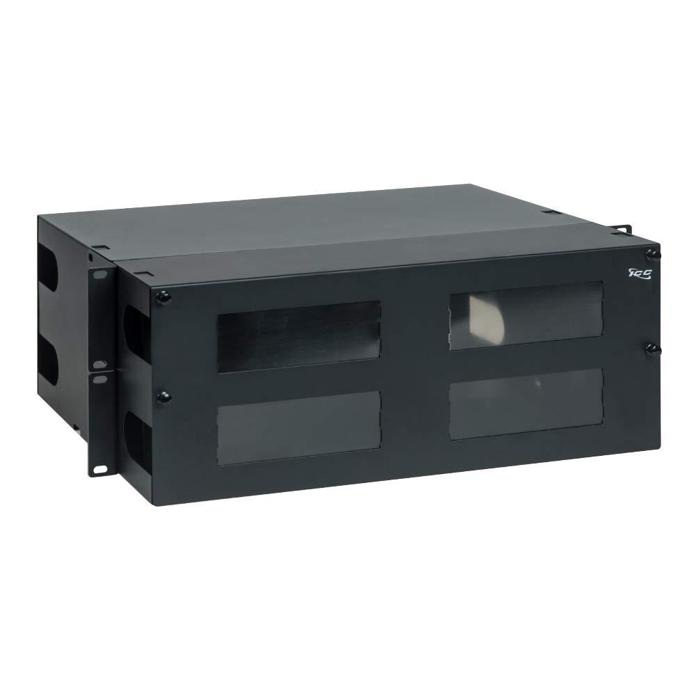 6 Ports Black Loaded w//6 FC Simplex Multimode Adapters RiteAV LGX Footprint FC Adapter Panel